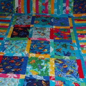 Island Themed Batik Stash Quilt