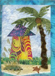 Art Quilt_Shack, Palm & Sea Oats