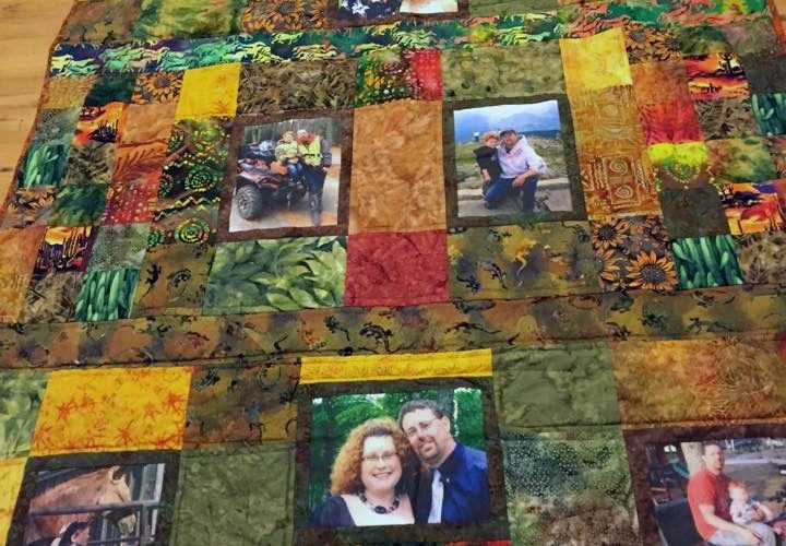 Family Memory Quilt Photo