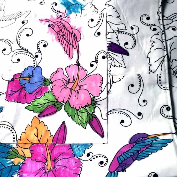 image of Color-me Fabric DIY Reversible Hobo Bag