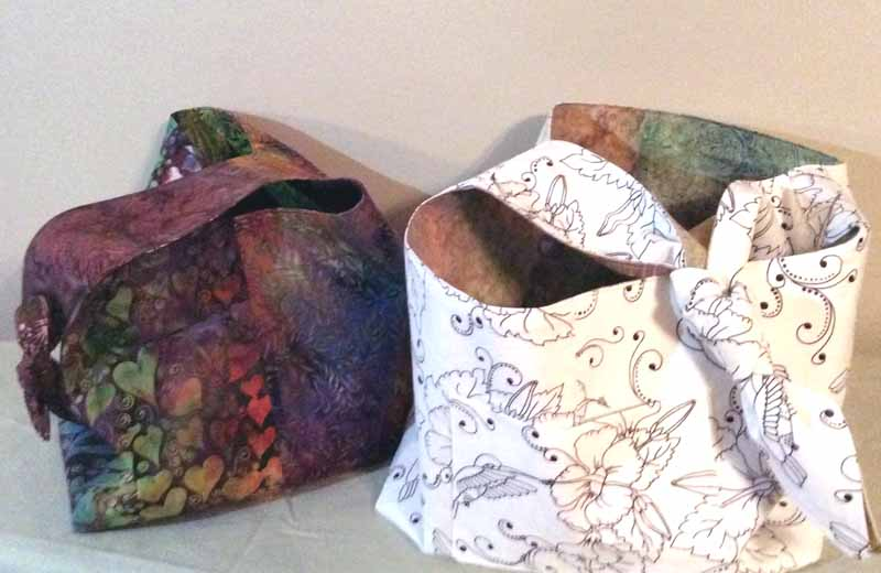 image of DIY Reversible Hobo Bag with color me fabric