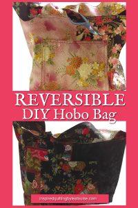 Photo of Pink side of Reversible Hobo Bag