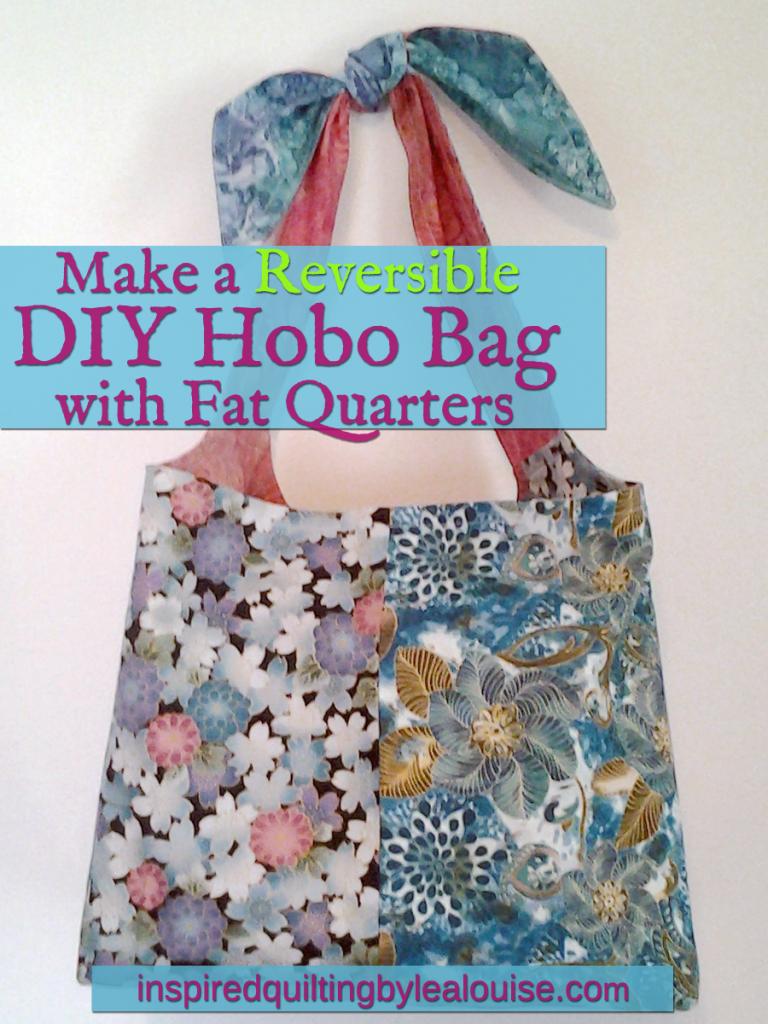 Photo DIY Hobo Bag made with fat quarters