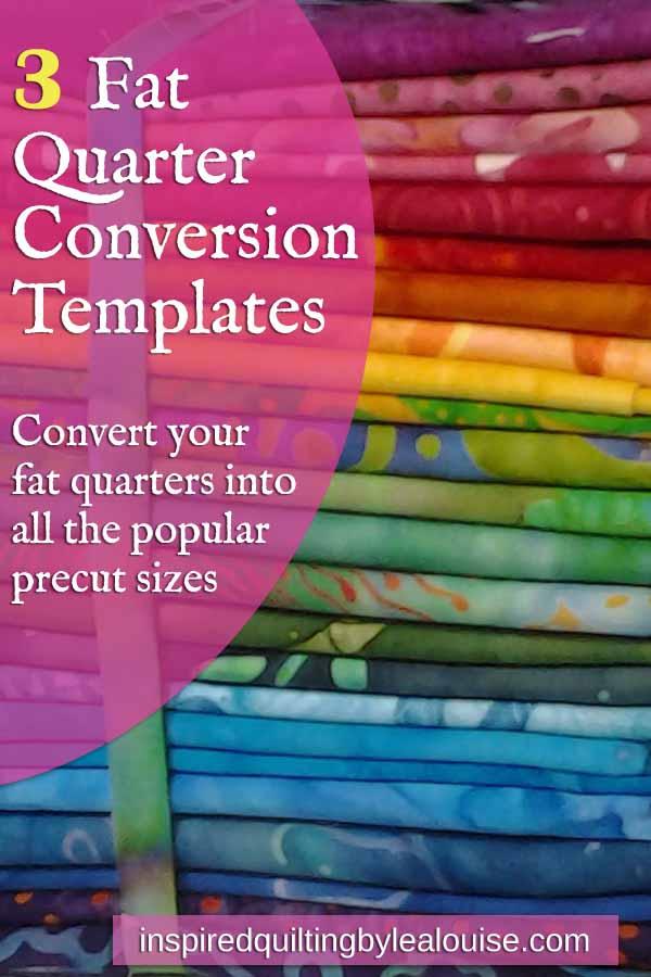 image of fat quarter conversion templates