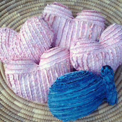DIY Faux-Chenille Heart Pillow