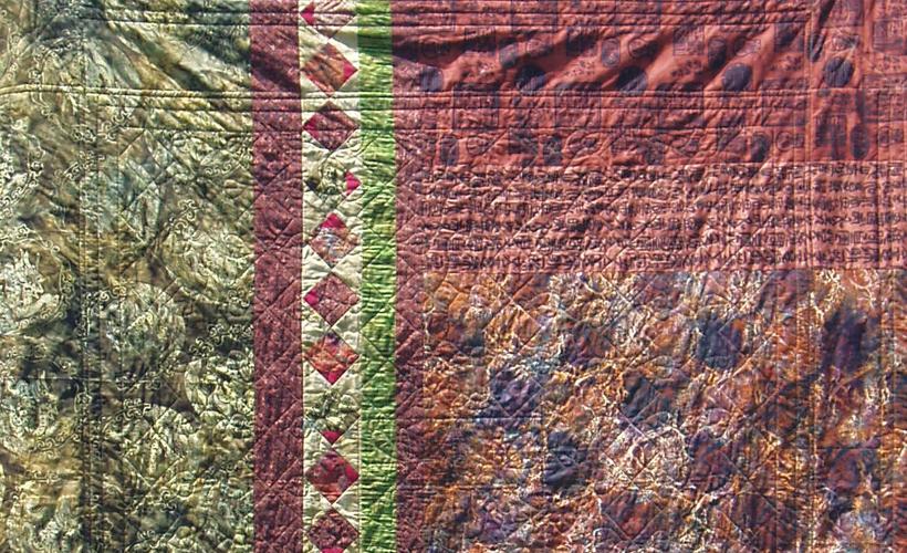 photo of Dragon Batik Quilt Back- Learn how to design a spectacular batik quilt