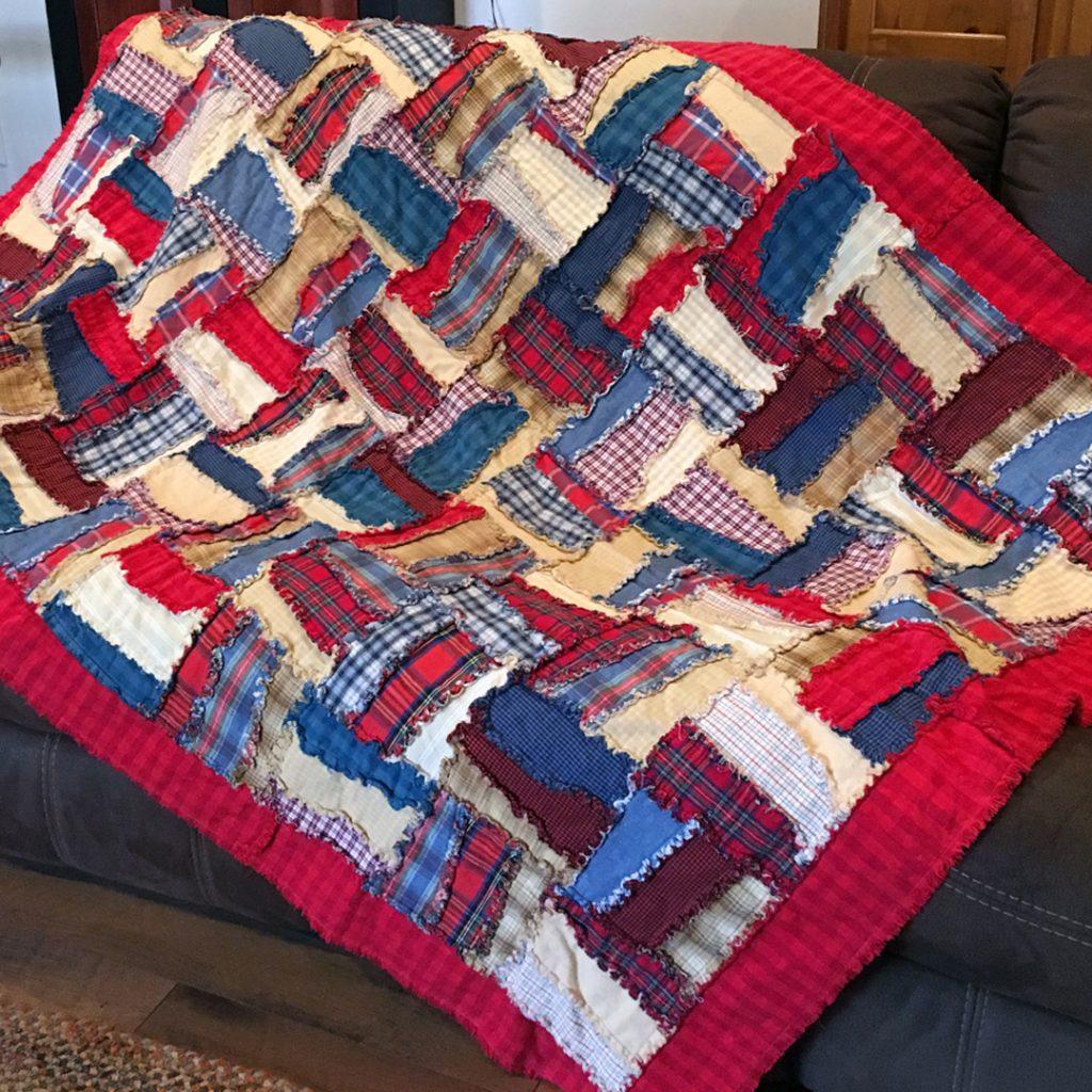 photo of rag quilt