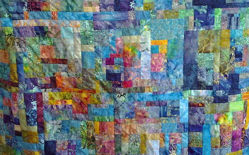 Photo of Stash Quilting with Lg Blocks
