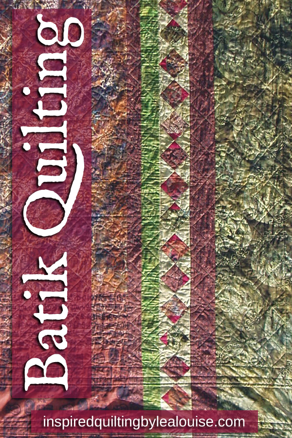 Learn how to design a spectacular batik stash quilt photo