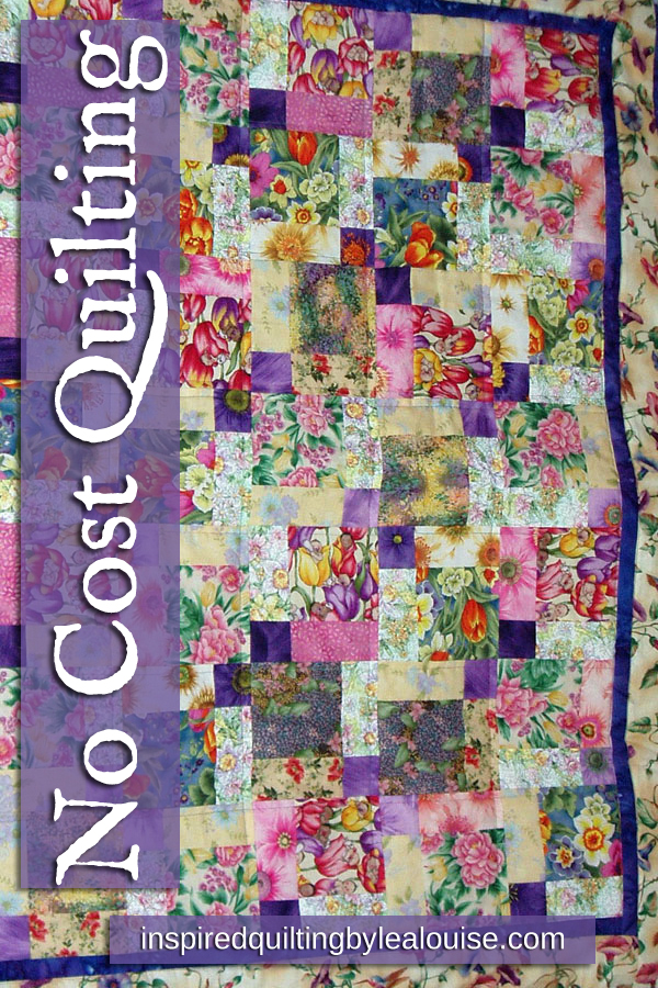 Learn how to make a stash quilt without buying any new fabric! photo