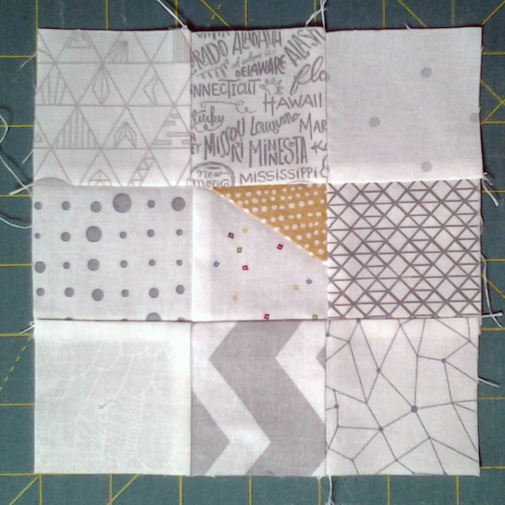 Photo Finished Wonky Corners Quilt Block