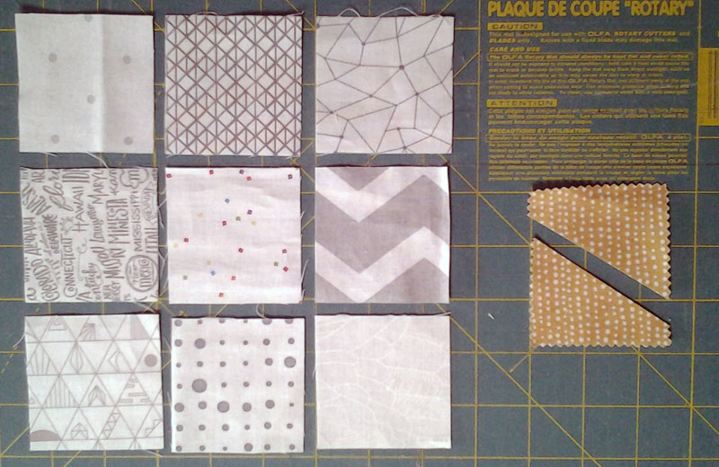 Photo Layout of Wonky Corners Quilt Block