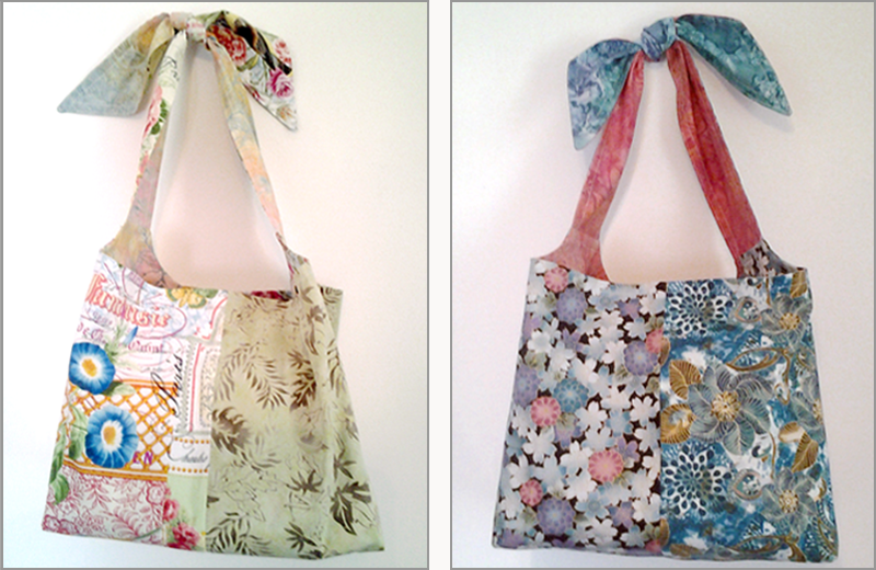 Photo DIY Reversible Hobo Bags made with Fat Quarters