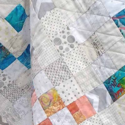 photo of low volume quilt