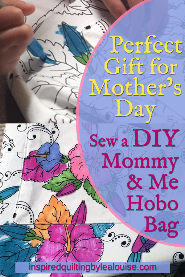 Photo PIN 1_Perfect Mothers Day Gift_Make Reversible DIY Hobo Bag with Fat Quarters _Perfect Mothers Day Gift_Color Me Hobo Bag