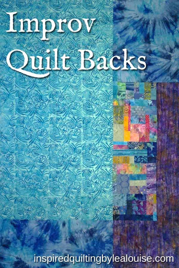 photo of modern improv quilt back