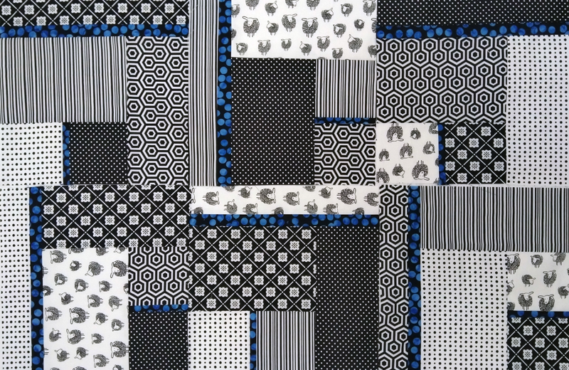 photo Modern Black & White Baby Quilt Using Batiks