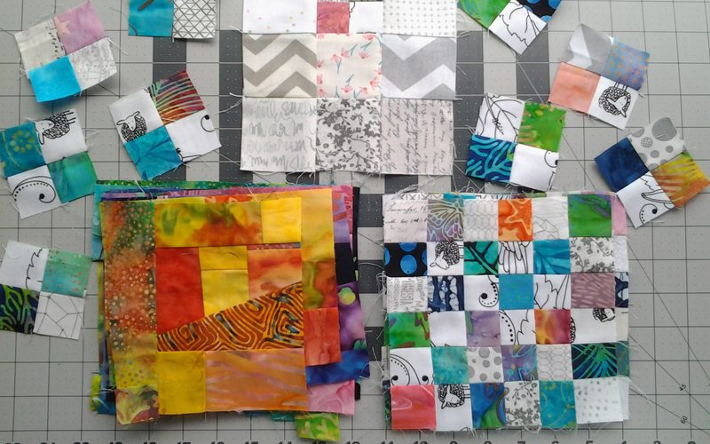 photo of low volume quilting with batiks