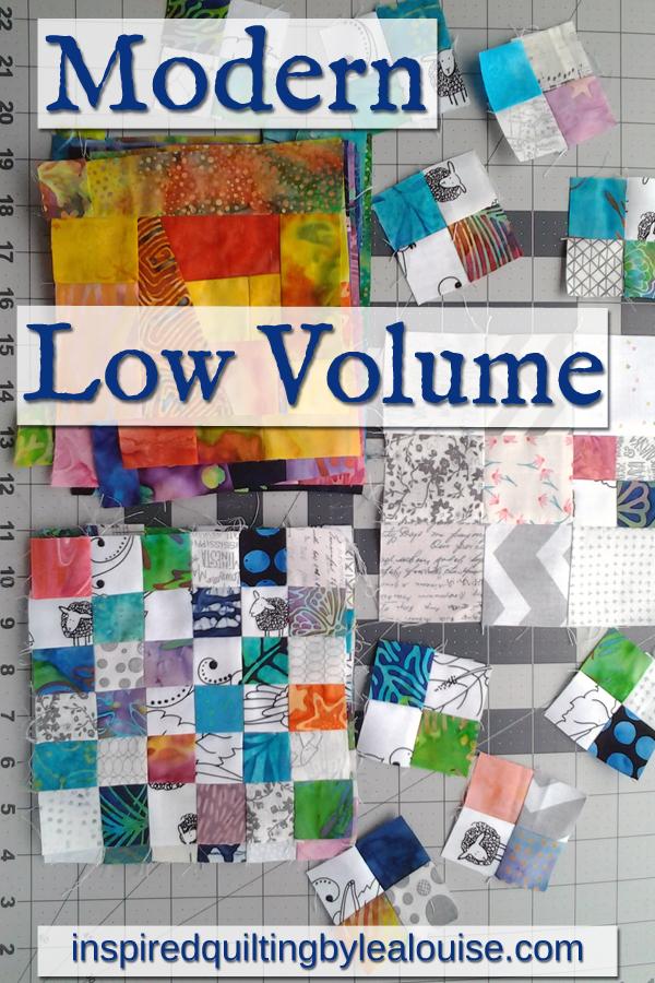 photo modern low volume quilting