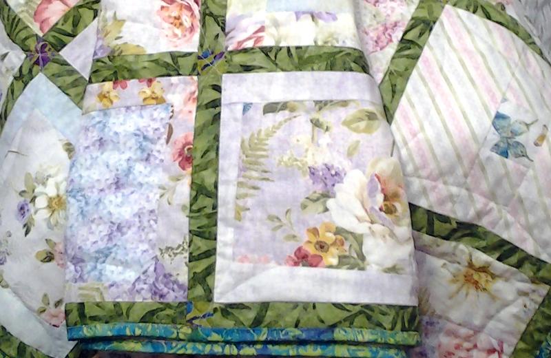 photo of Improv Garden Lattice Quilt