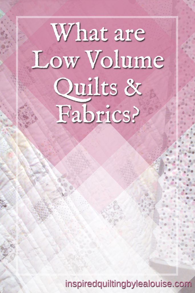 what are low volume quilts & fabrics_pink low volume baby quilt_easy beginner quilt pattern