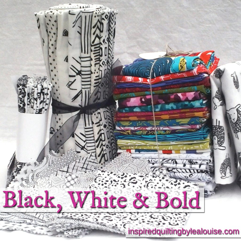 Black, White & Batik Fabric Collection_Modern Black, White & Bold Quilt Fabric