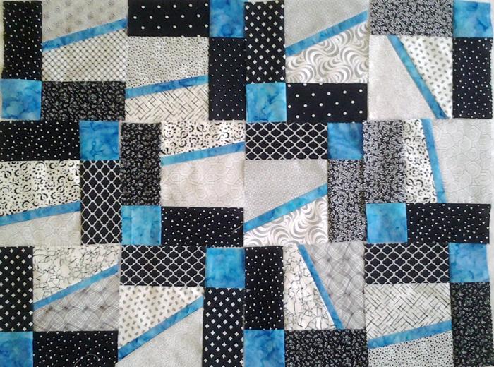 Photo Layout 4_Easy Modern Improv Black White and Turquoise