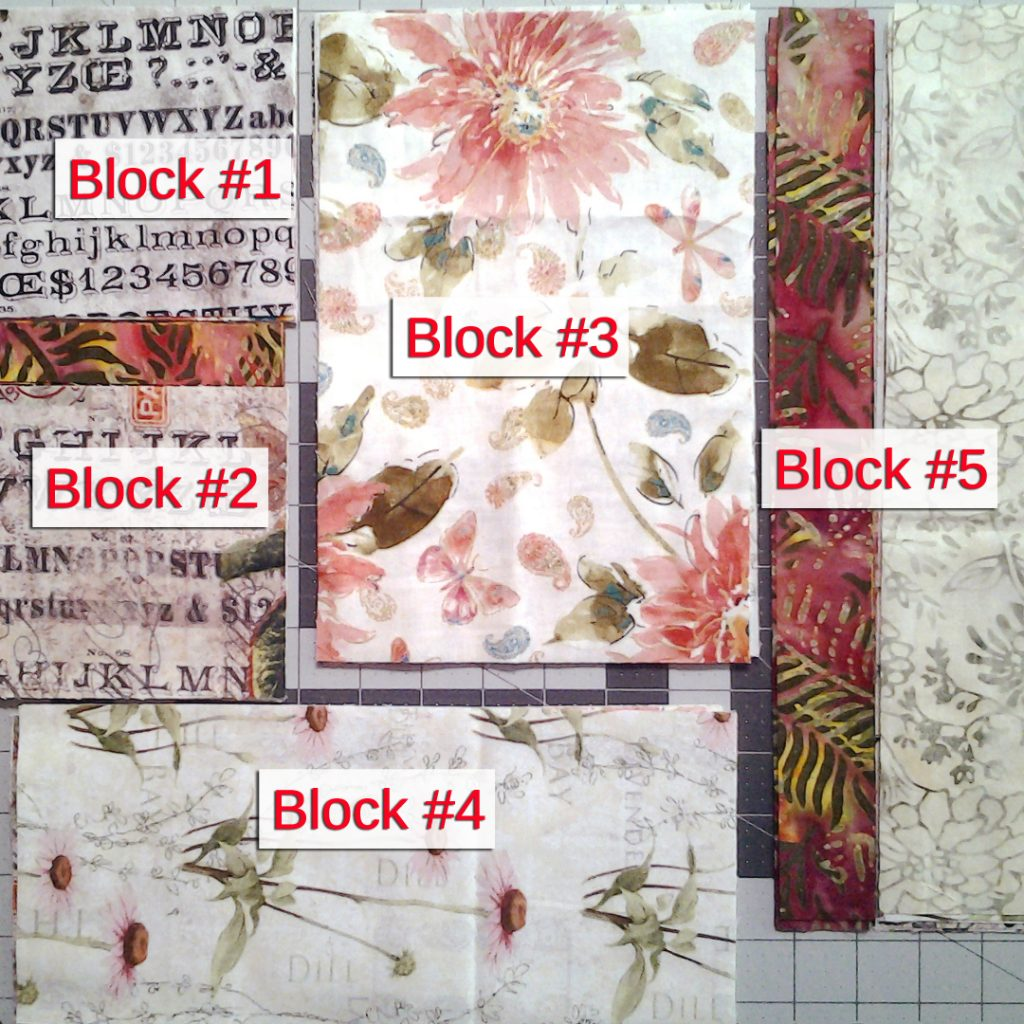 Photo Sewing Order Layout of Block Assembly