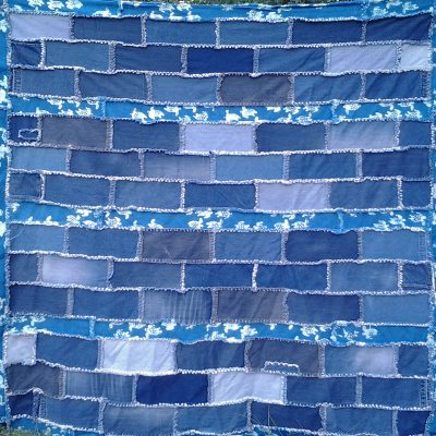 Photo of Blue Jean Rag Quilt With Borders