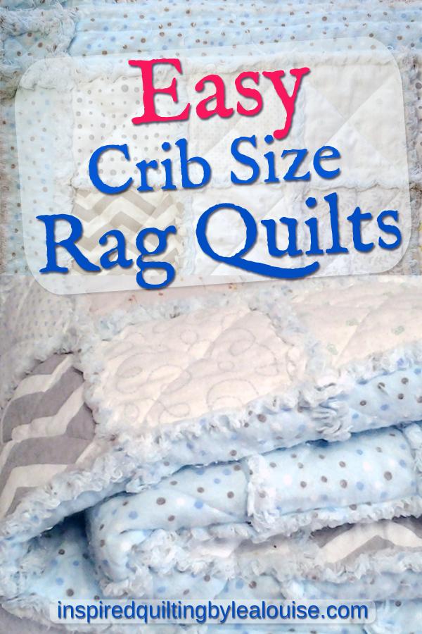 photo of crib size rag quilt