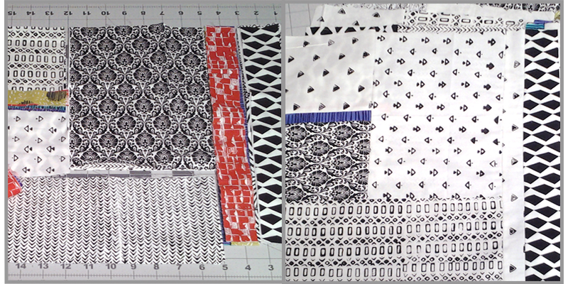Photo of Modern Fat Quarter Quilting Block Layout No4 Side Triangles
