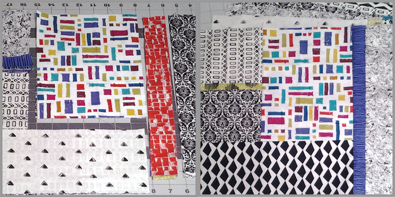 Photo of Modern Fat Quarter Quilting Block Layout No1 Multi Color Print