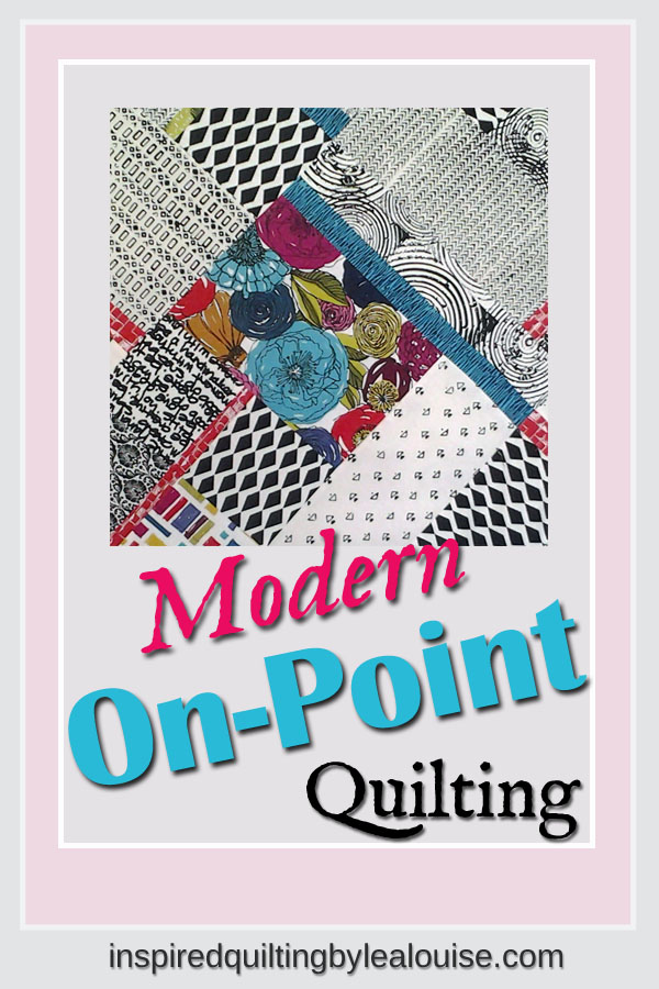 photo of Modern Fat Quarter Quilting Block with Floral and Batik Fabric