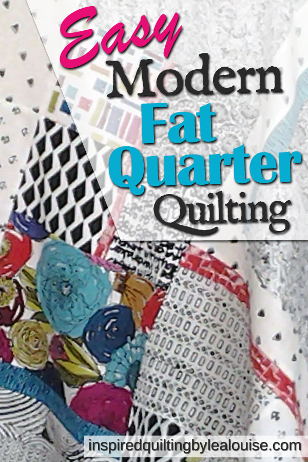 Photo of Pinterest Pin on-point modern fat quarter quilt