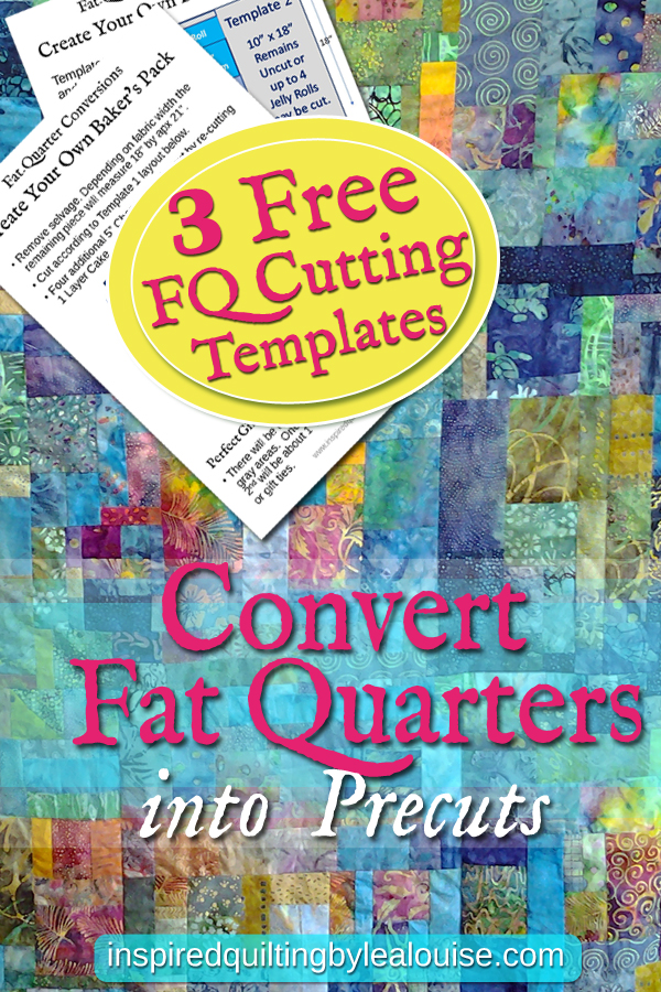 Download 3 Free FQ Conversion Templates Convert Your Fat Quarters Into Precuts