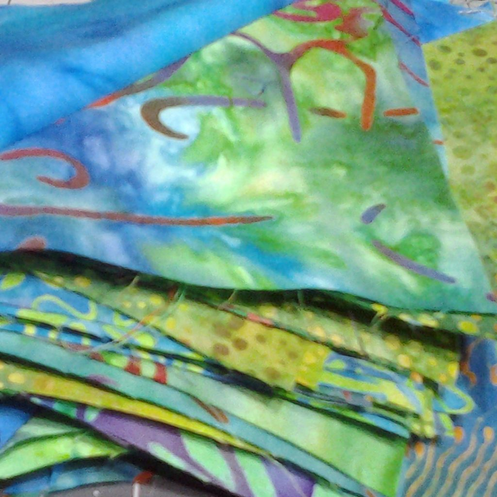 photo of Batik Fabric Selection