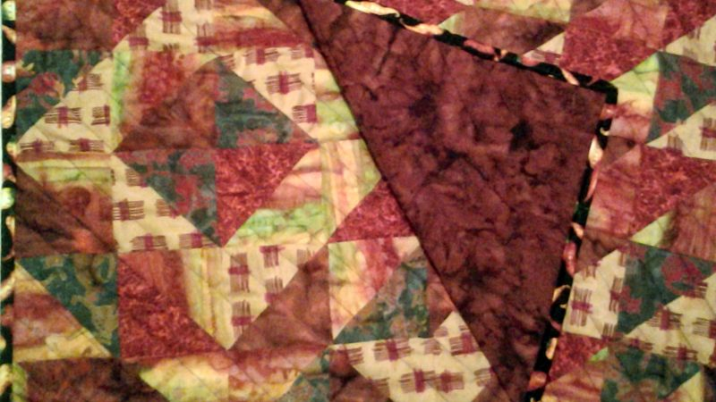 Modern Fat Quarter Mini Quilt with HSTs