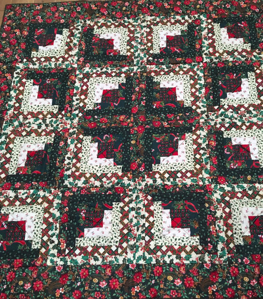 Photo of Christmas Log Cabin Star Quilt