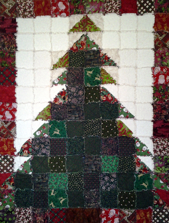 photo of Christmas Tree Rag Quilt