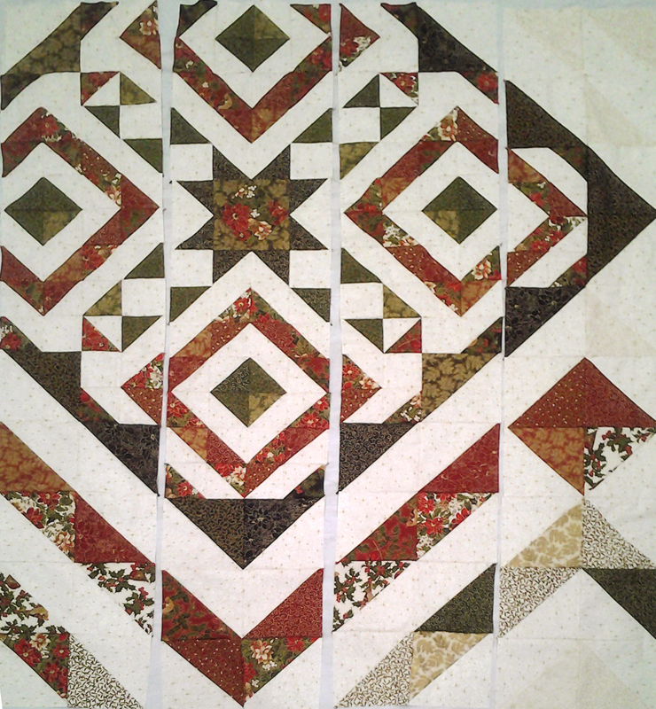 layout photo of Modern Quilting with layer Cake half square triangles