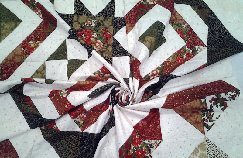 photo of Swirl view finished quilt