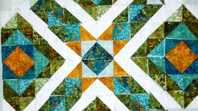 Modern Quilting with Layer Cake HSTs