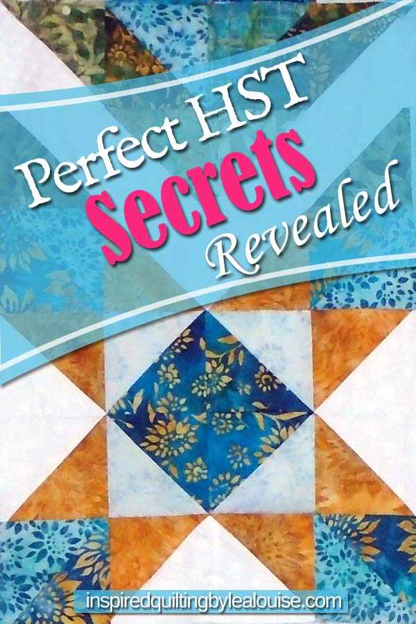 Photo of Pinterest Pin for Perfect HST Blocks