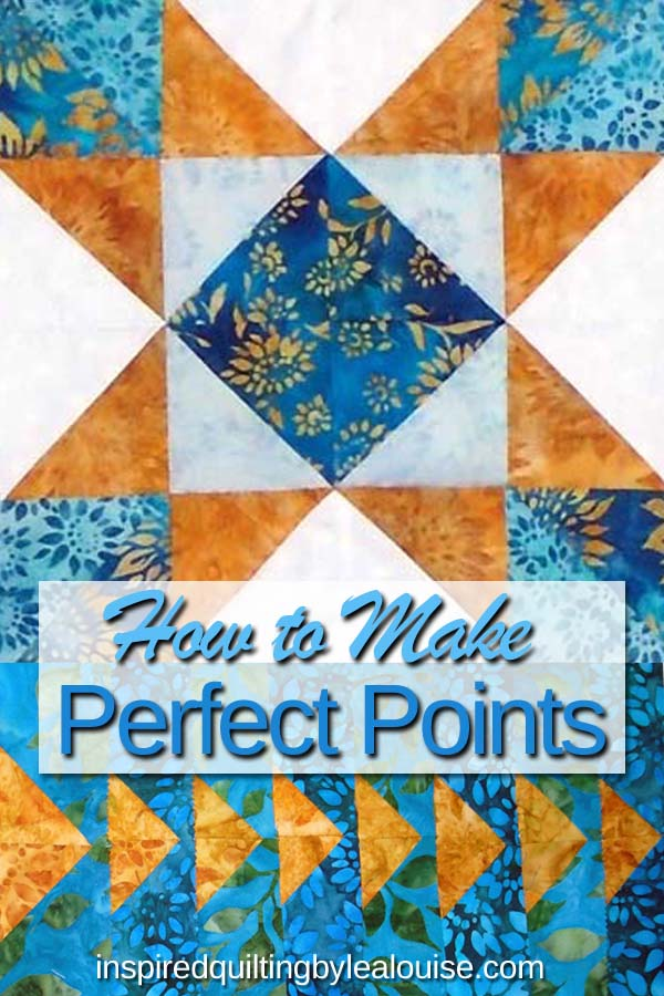 photo of pinterest pin - How to make perfect hst points and blocks tutorial