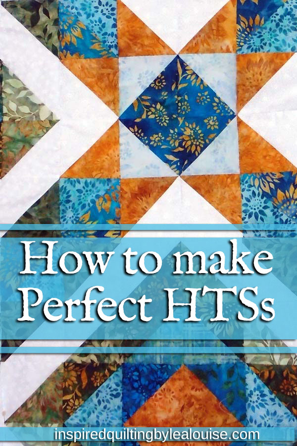 Photo of Pinterest Pin How to make perfect HSTs