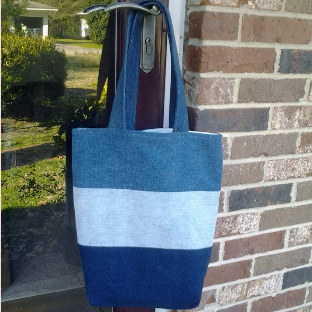 photo of Upcycle Blue Jeans into a Denim Blue Jean Tote Bag
