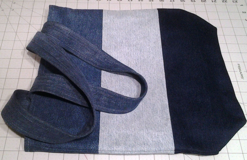 photo of Denim Blue Jean Tote Bag_finished bag