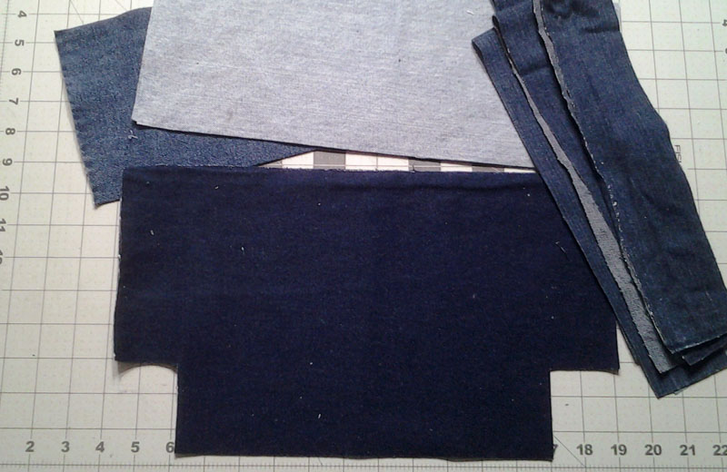 photo of Denim Blue Jean Tote Bag_2_cut strips