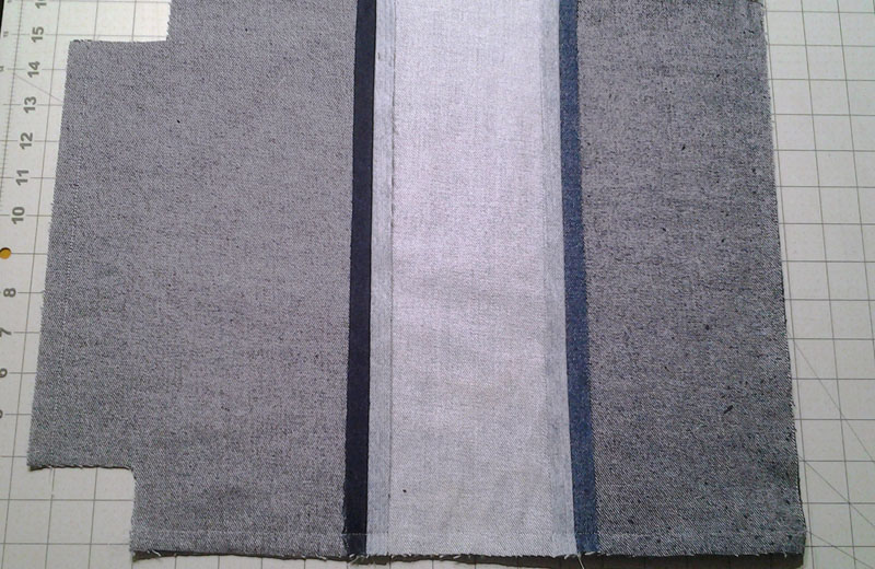 photo of Denim strips sewn tgr