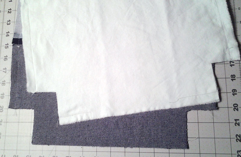 photo of cut lining for Denim Tote Bag